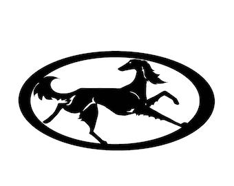 Saluki dog silhouette, LeChienArtistiQ