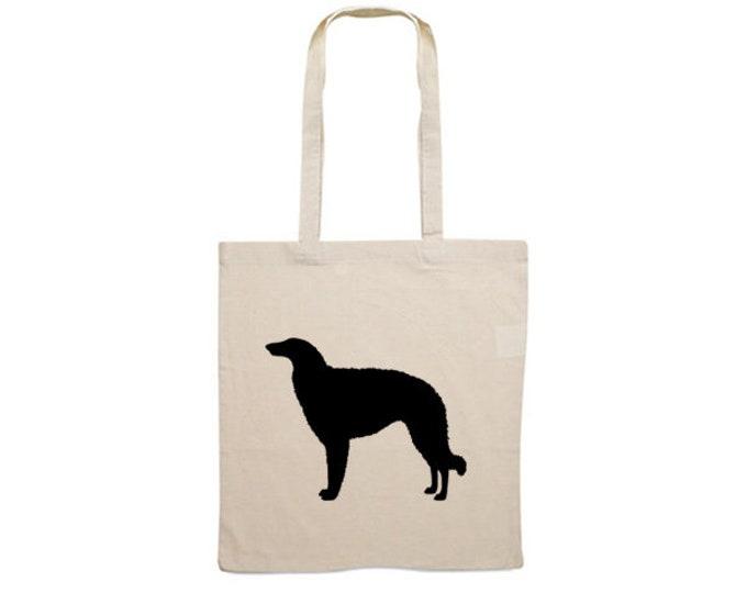 Canvas bag Borzoi dog silhouette