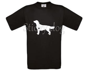 T-shirt Golden retriever dog silhouette
