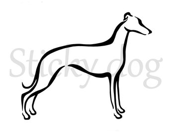 Whippet tribal sticker