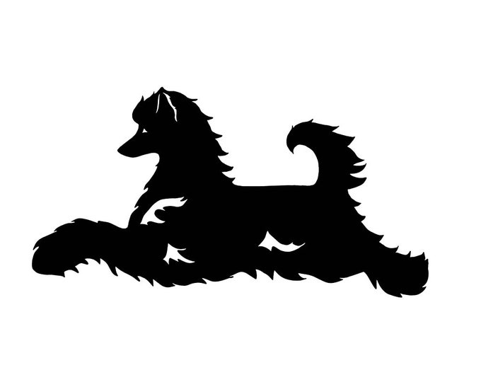 Chinese Crested Dog silhouette sticker, LeChienArtistiQ