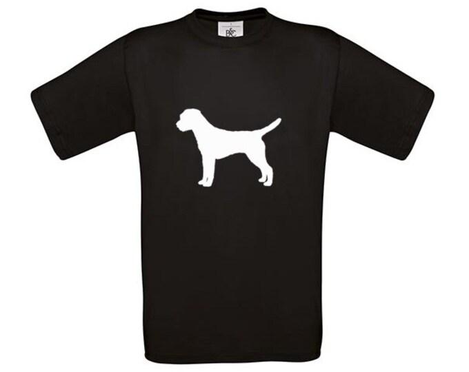 T-shirt Border Terrier silhouette