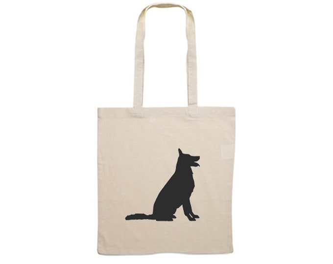 Canvas bag German Shepherd dog silhouette