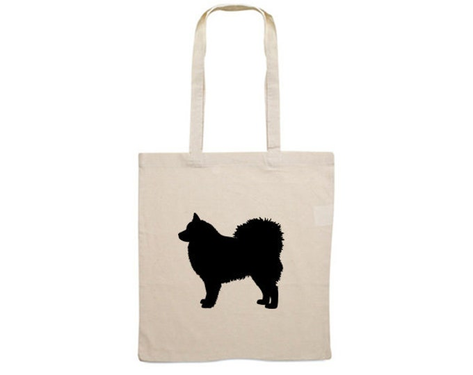 Canvas bag Finnish Lapphund dog silhouette