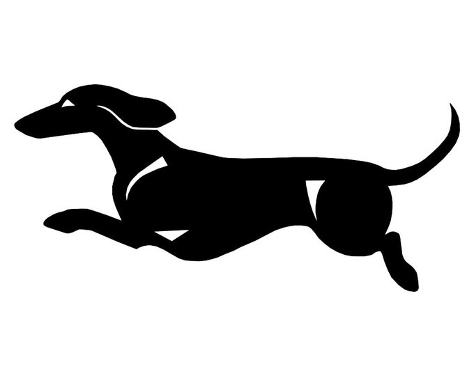 Short-haired Dachshund - Teckel sticker dog silhouette, LeChienArtistiQ