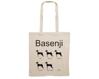 Canvas bag Basenji