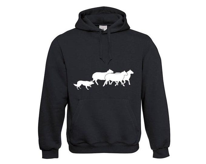 Hoody Border Collie dog silhouette