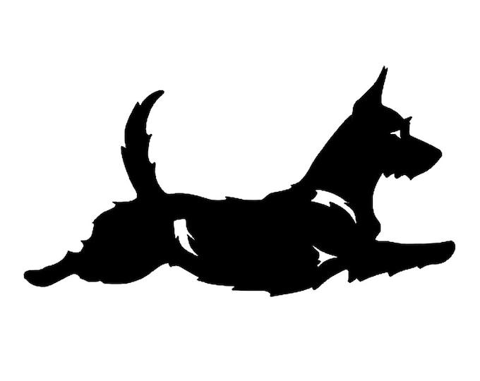 Portuguese Podengo dog silhouette sticker, LeChienArtistiQ