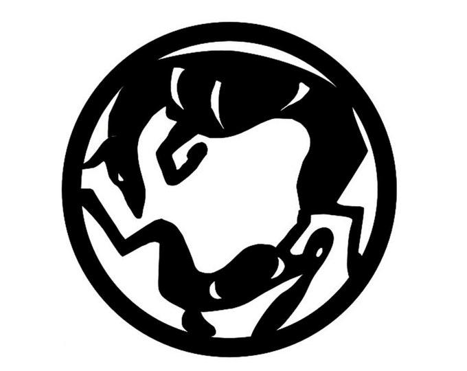 Podenco ibicenco circle with rabbit, LeChienArtistiQ