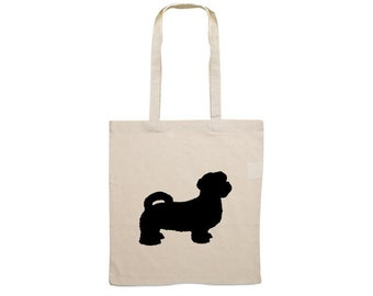 Canvas bag Shih Tzu silhouette