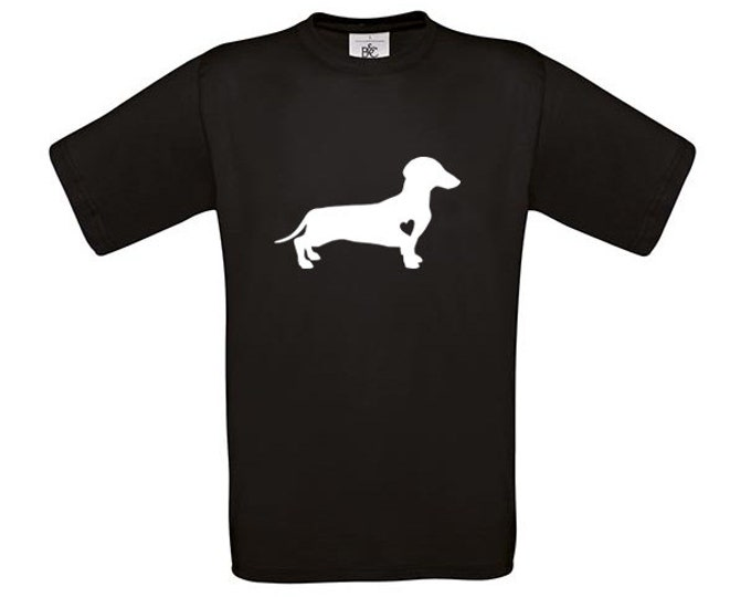 T-shirt Smooth-haired Dachshund - Teckel silhouette