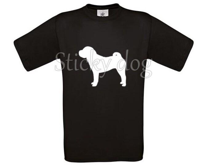 T-shirt Shar pei silhouette dog
