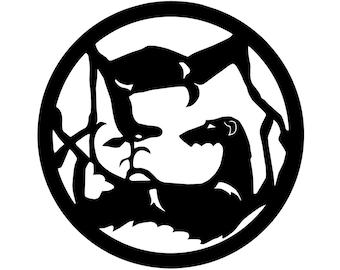 Scottish Deerhound circle with deer dog silhouette, LeChienArtistiQ