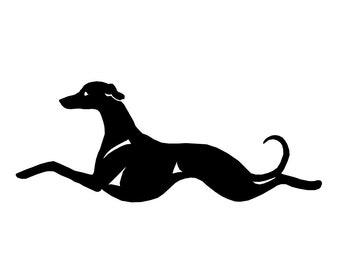 Whippet dog silhouette sticker, LeChienArtistiQ