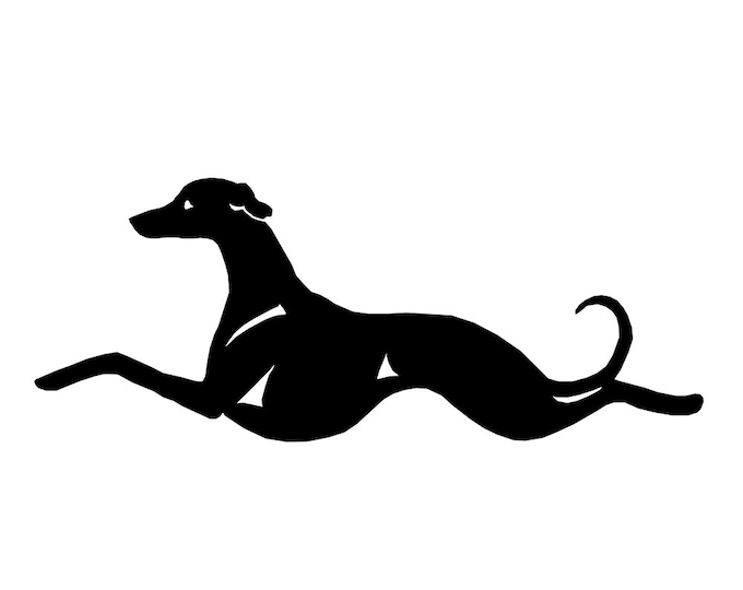 Whippet dog silhouette sticker, LeChienArtistiQ