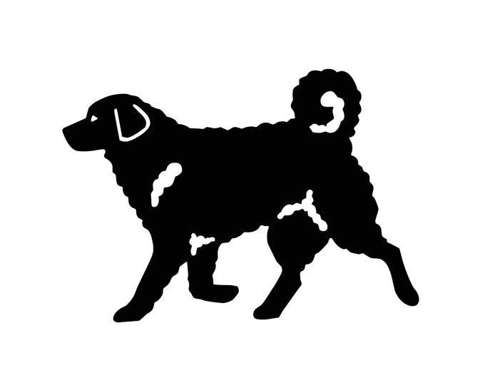Wetterhoun dog silhouette, LeChienArtistiQ