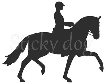 Dressage horse sticker