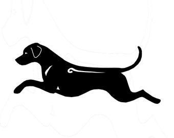 Rhodesian Ridgeback silhouetten dog sticker, LeChienArtistiQ