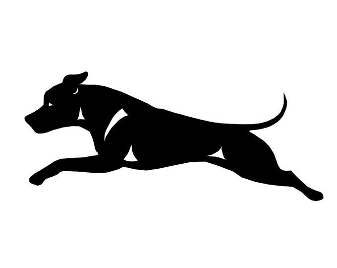 American Staffordshire Terrier dog silhouette sticker, LeChienArtistiQ