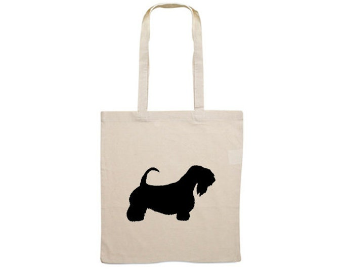 Canvas dog bag Sealyham Terrier silhouette