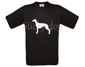 T-shirt Greyhound dog silhouette