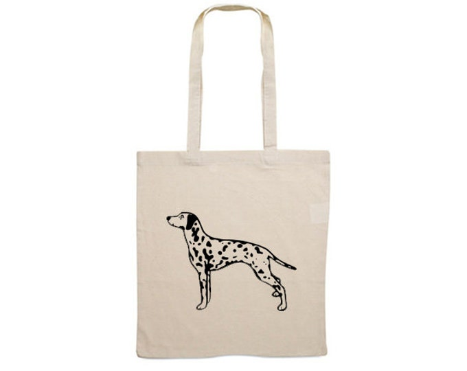 Canvas bag Dalmatian silhouette