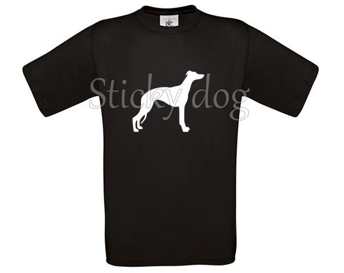 T-shirt Whippet silhouette