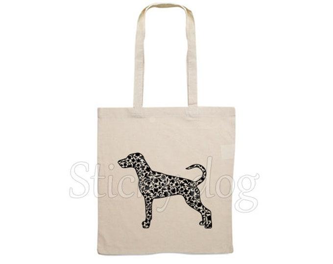 Canvas bag Dobermann dog silhouette