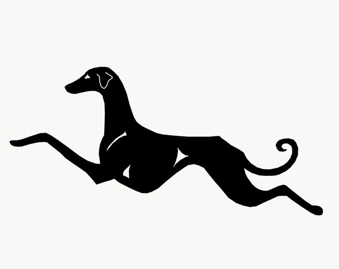 Azawakh silhouette dog sticker, LeChienArtistiQ