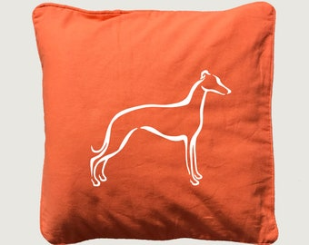 Cushion cover with print Whippet silhouette