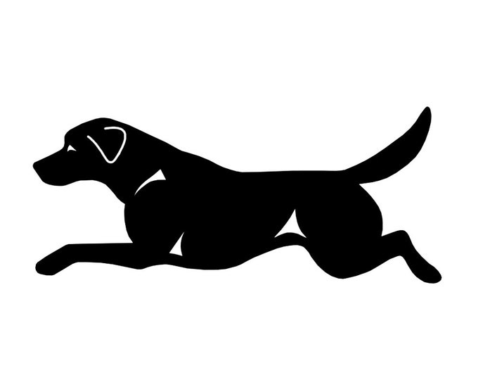 Labrador retriever silhouette dog sticker, LeChienArtistiQ