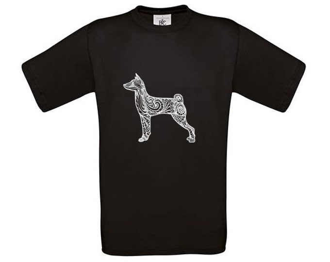 T-shirt Basenji silhouette