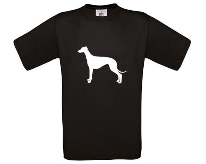 T-shirt Greyhound dog silhouette heart