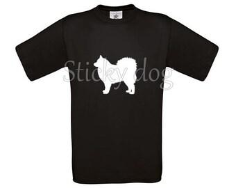T-shirt Finnish Lapphund dog silhouette