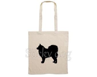 Canvas bag Finnish Lapphund dog silhouette