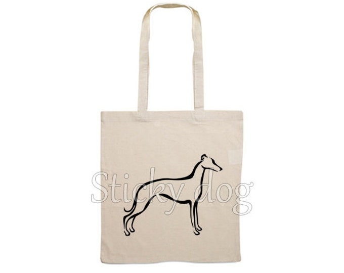 Canvas dog bag Whippet tribal silhouette