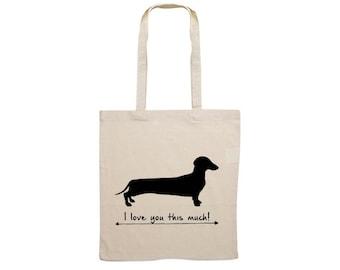 Canvas bag smooth-haired Dachshund - Teckel