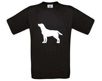 T-shirt Labrador retriever dog silhouette