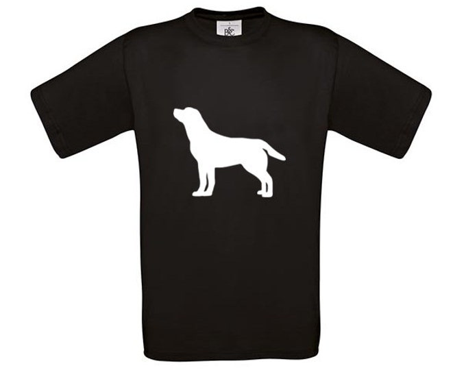 T-shirt Labrador retriever dog silhouette