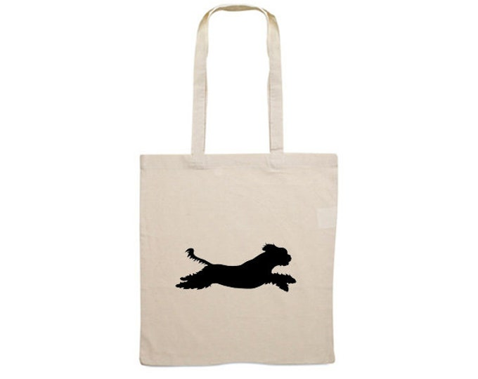 Canvas bag Shih Tzu silhouette