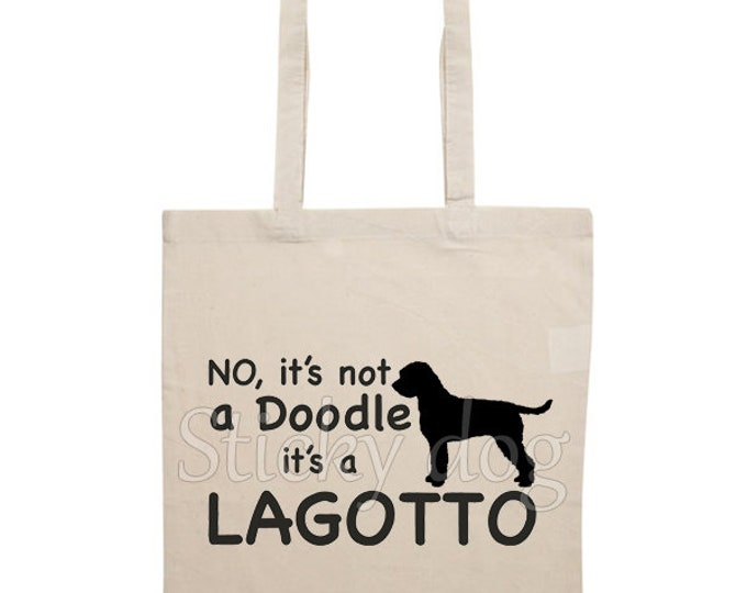 Canvas bag Lagotto Romagnolo dog silhouette