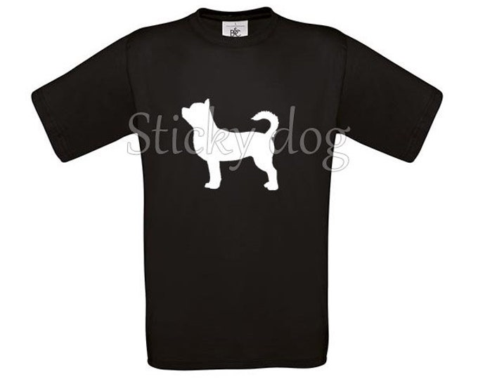 T-shirt shorthaired Chihuahua silhouette