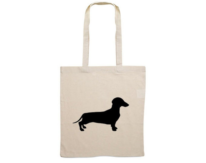 Canvas bag smooth-haired Dachshund - Teckel