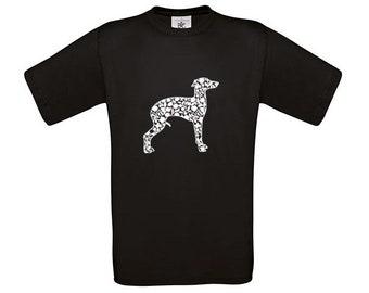 T-shirt Italian greyhound/ sighthound dog silhouette