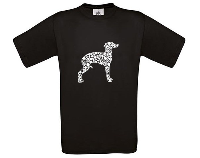 T-shirt Italian greyhound/ sighthound dog silhouette