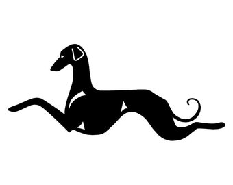 Sloughi Double sitting dog silhouette, LeChienArtistiQ