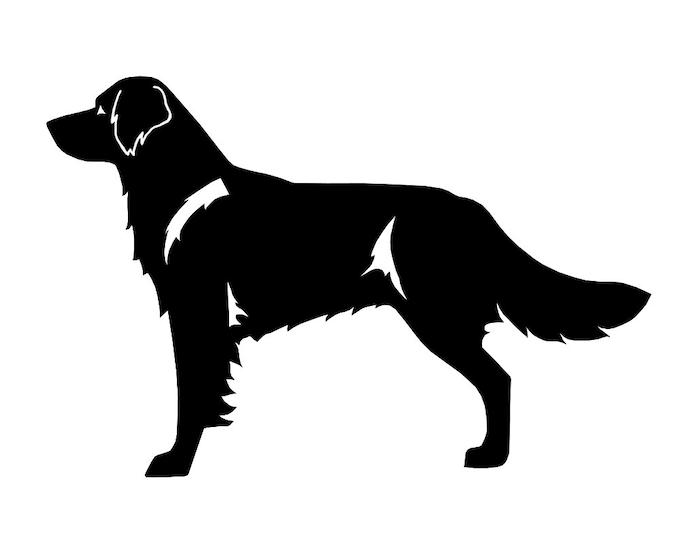 Drentse Patrijshond dog silhouette sticker, LeChienArtistiQ