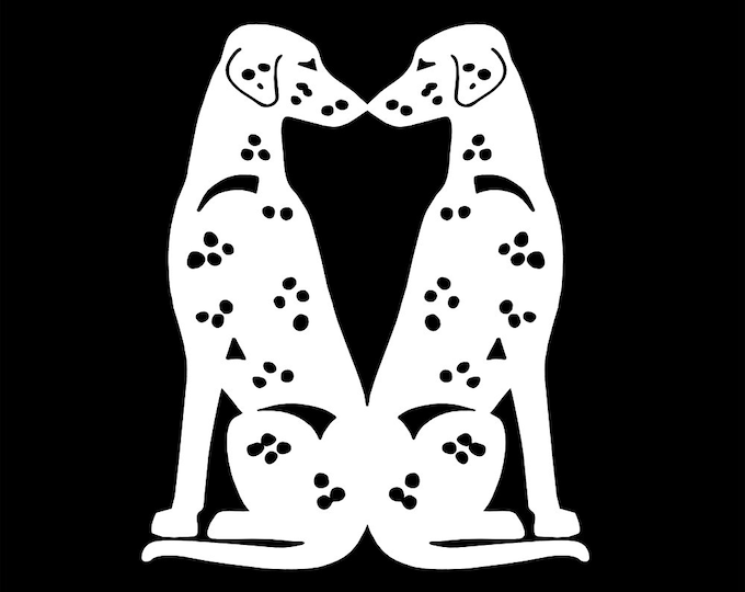 Dalmatian dog silhouette sticker, LeChienArtistiQ