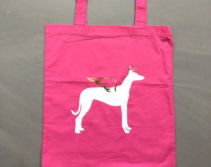 Canvas bag Podenco angel silhouette