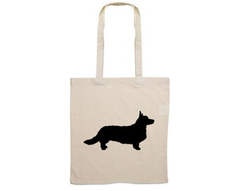 Canvas bag Cardigan Welsh Corgi silhouette